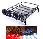 #30 1:10 RC Roof Mounted Luggage Rack w/ Light Bar with Headlights and Brake RF#4