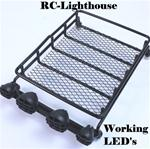 Luggage Rack with Working LED Light Bar