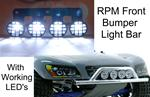 RPM Front Bumper Light Bar with working lights 80982 Black