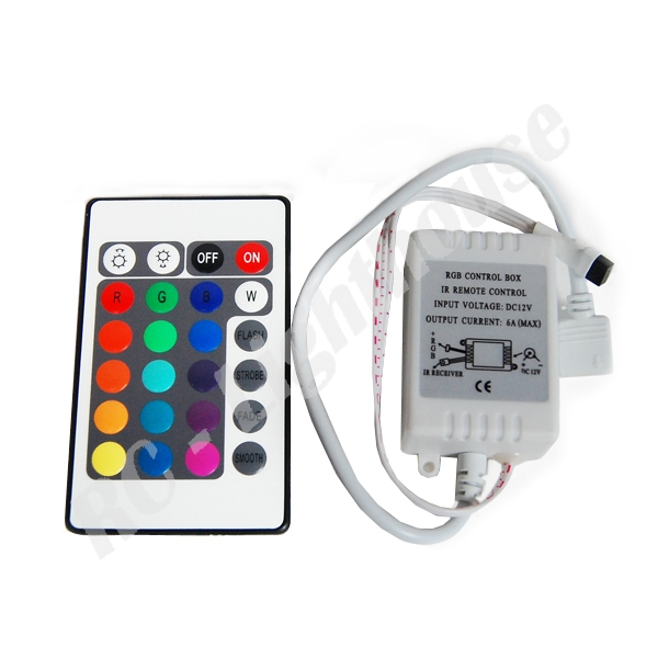 ir remote control for rgb 3528 or 5050 led light sets rc lighthouse. Black Bedroom Furniture Sets. Home Design Ideas