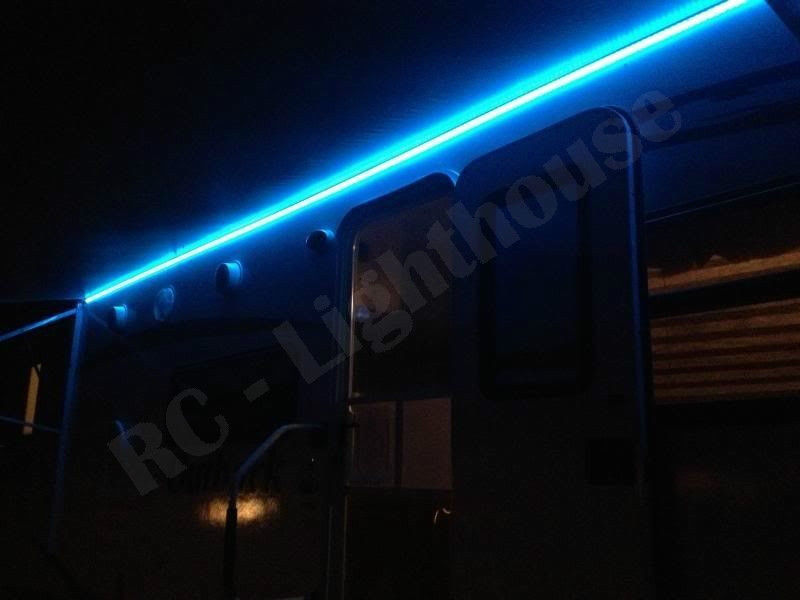 a5 bluetooth controlled rv led awning light set blk rgb 5050
