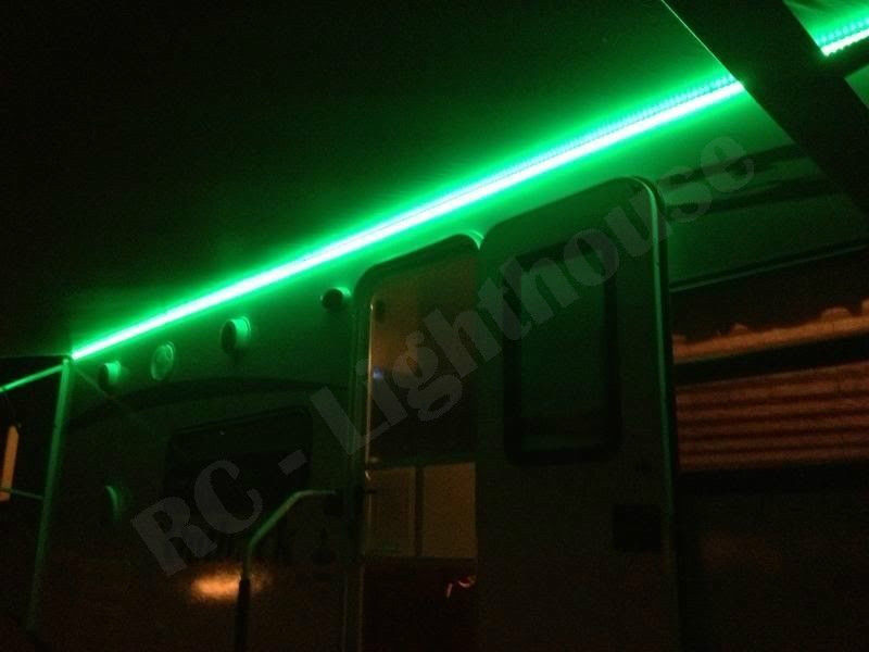 RV LED Awning Light Set W IR Remote Control 24 Key RGB 164
