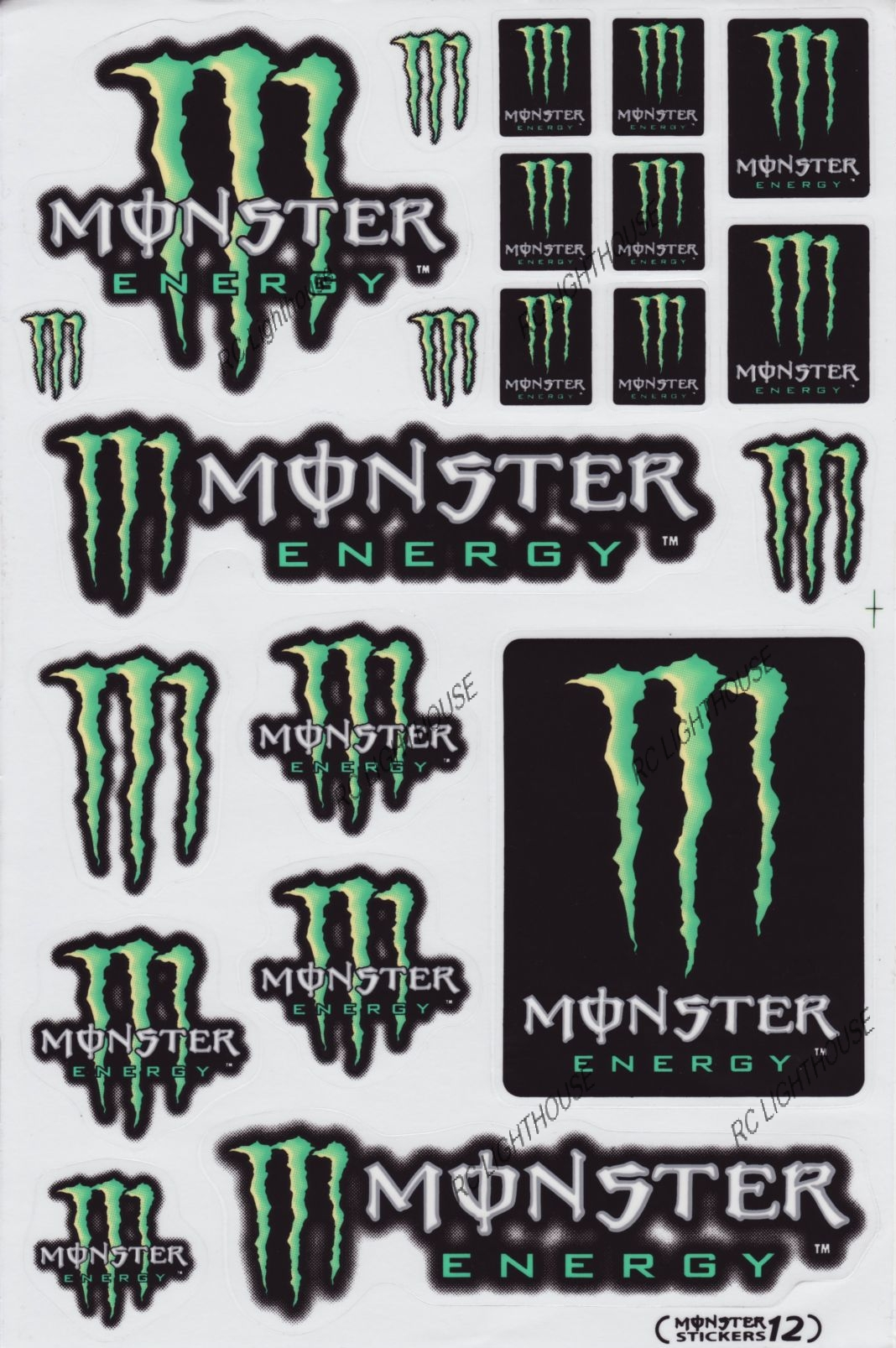 monster energy drink sticker sheet d 102 rc lighthouse. Black Bedroom Furniture Sets. Home Design Ideas