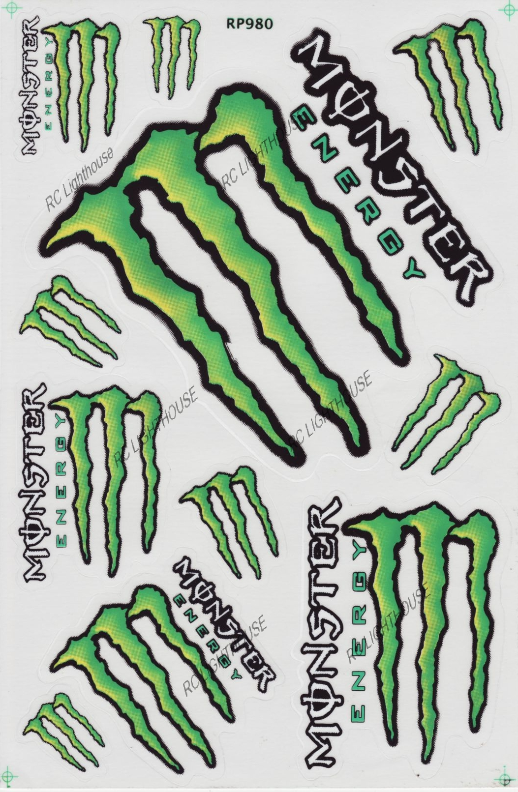 monster energy drink sticker sheet d 105 rc lighthouse. Black Bedroom Furniture Sets. Home Design Ideas