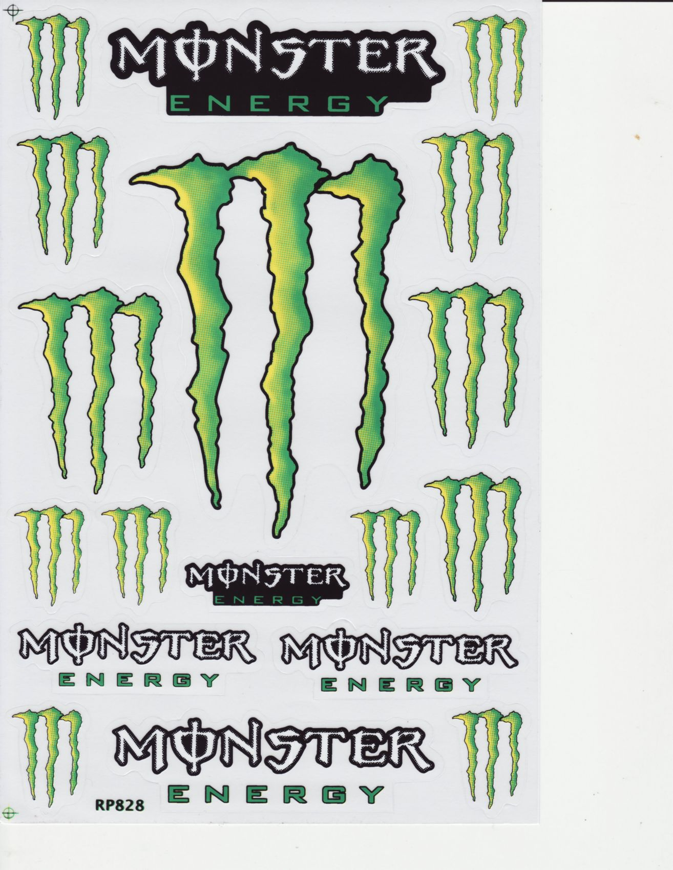 monster energy drink sticker sheet d 106 rc lighthouse. Black Bedroom Furniture Sets. Home Design Ideas