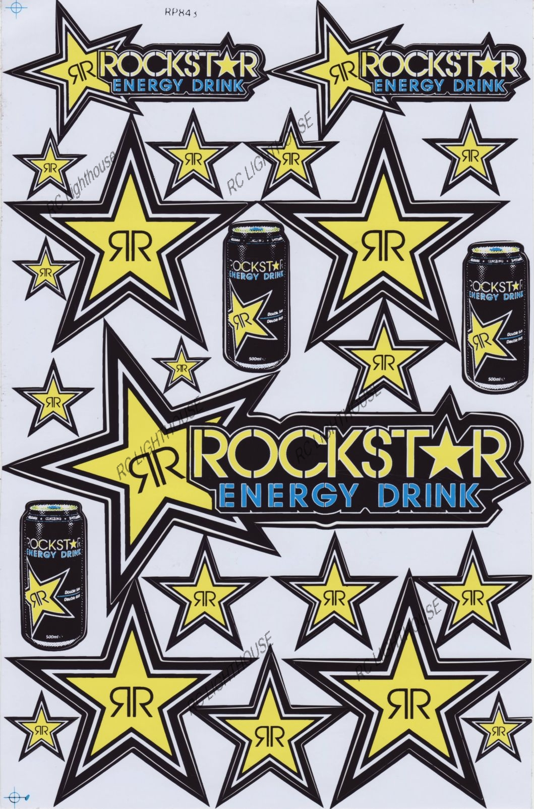 Rockstar Energy Drink Sticker Sheet D 303 Rc Lighthouse