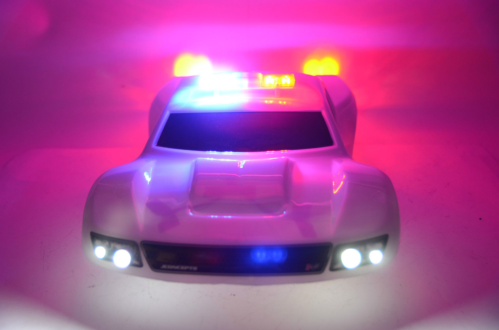 ... #17  Custom Police LED Light Set With Working Flashing Light Bar ...