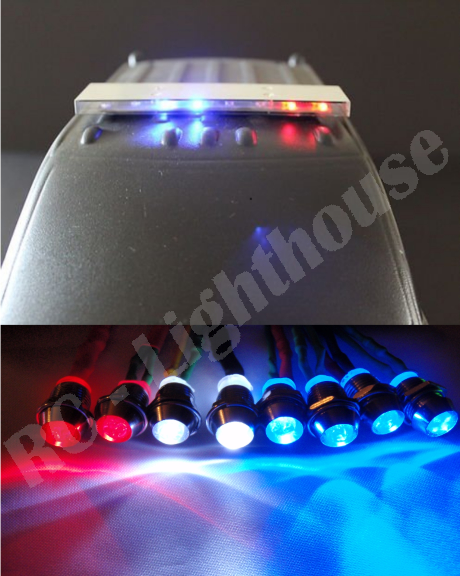 26 New Rc 1 10 Scale Police Led Light Bar Kit With