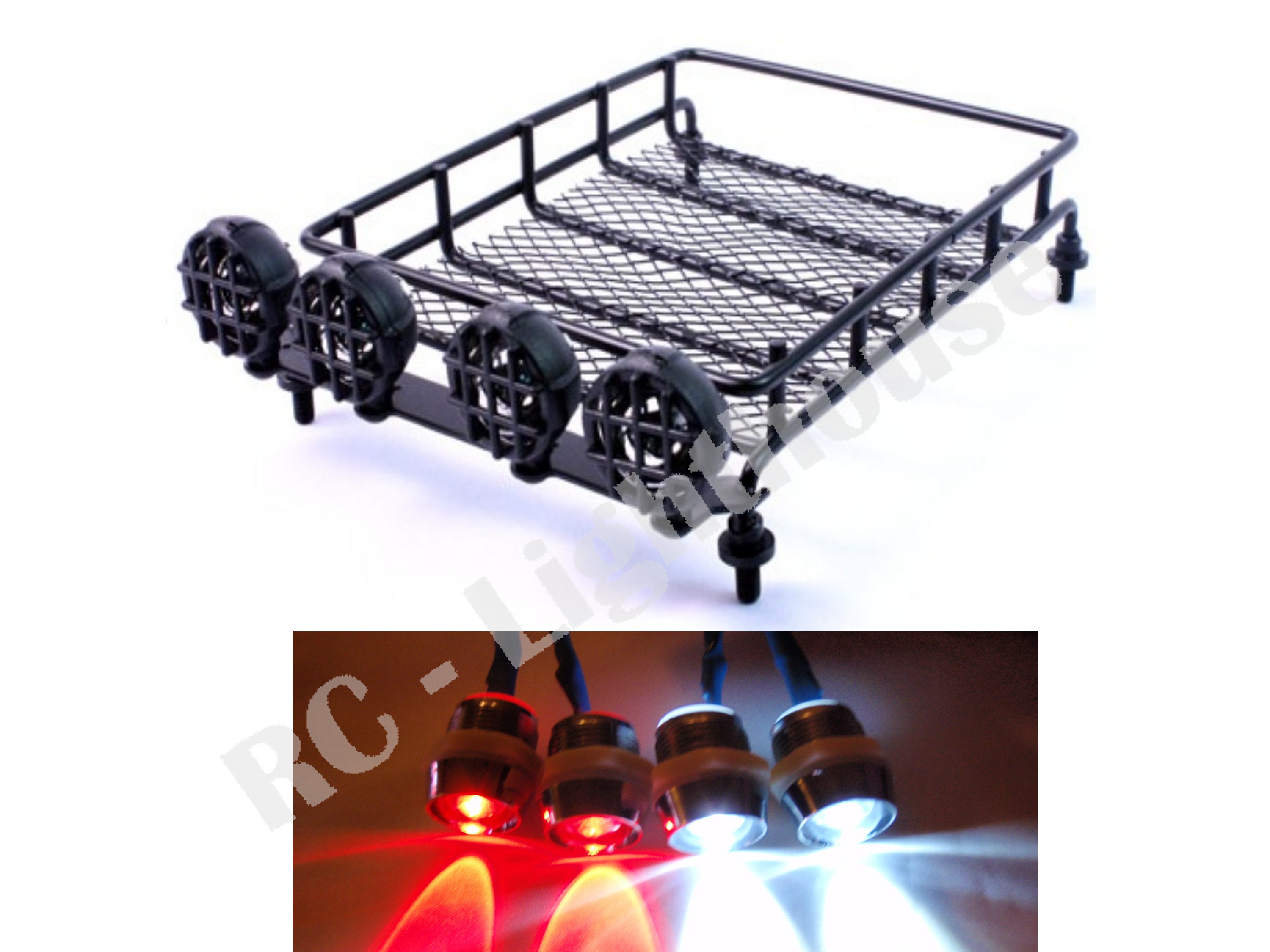 28 1 10 Rc Roof Mounted Luggage Rack W Light Bar With