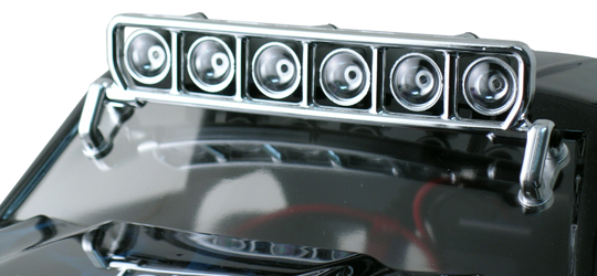 Rpm Roof Mounted Light Bar Set 6w 80923 Chrome For Traxxas
