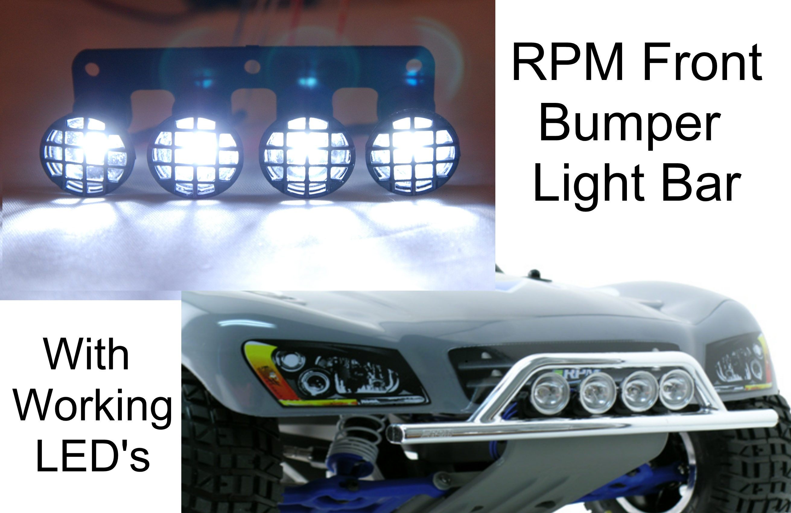 RPM Front Bumper Light Bar with working lights Black