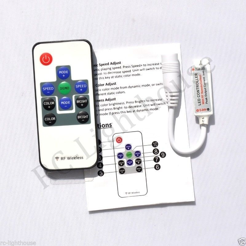 R10 Rf Wireless Remote Controller Mini Dimmer Dc Plugs